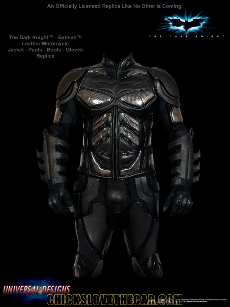 Dark Knight Leather Motorcycle Suit