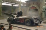 Clooney batmobile replica used in Six Flags stunt show