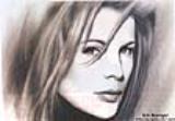 Airbrushed painting of Kim Basinger