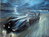 Painting of Mark Shield's Batmobile