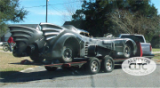 Batmobile in transport